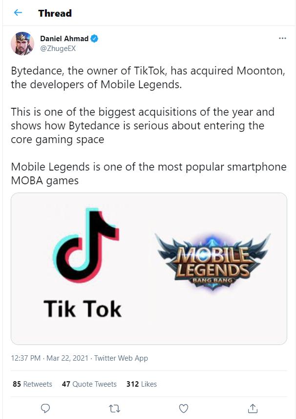 Mobile Legends di Beli Tiktok _ Cek Faktanya